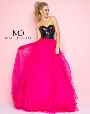 Платья Вечернее платье Mac Duqqal фуксия напрокат | Аренда и прокат – Санкт-Петербург
