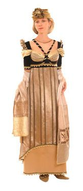 Исторические костюмы Золотое с коричневым напрокат | Аренда и прокат – Москва