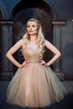 Платья Платье мини бежевое напрокат | Аренда и прокат – Москва