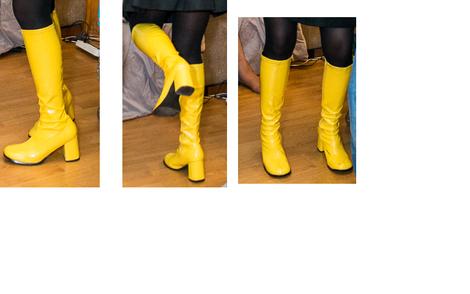 Обувь сапоги хиппи желтые напрокат | Аренда и прокат – Москва