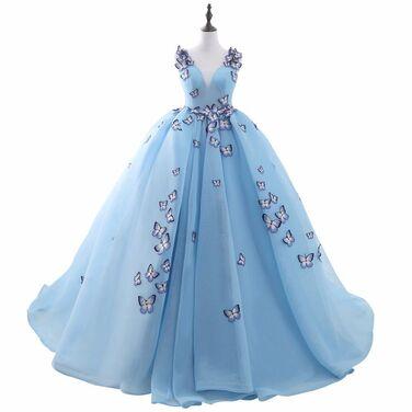 Платья Пышное бальное платье с бабочками напрокат   Аренда и прокат – Москва
