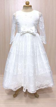 Платья и одежда для девочек Платье белое нарядное с рукавчиком напрокат | Аренда и прокат – Пермь