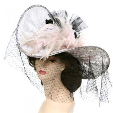 Другое Каркасная белая женская шляпа XIX в напрокат | Аренда и прокат – Москва