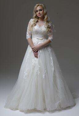 Платья Свадебное платье с рукавами 235 напрокат   Аренда и прокат – Москва