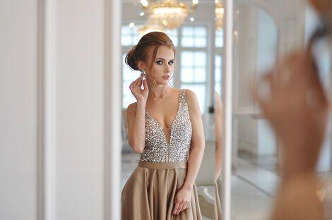 Платья Золотое платье напрокат | Аренда и прокат – Санкт-Петербург