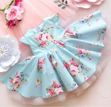 Платья и одежда для девочек Платье Blue Fiona напрокат | Аренда и прокат – Москва