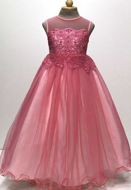 Платья и одежда для девочек Нарядное вечернее розовое платье напрокат | Аренда и прокат – Пермь