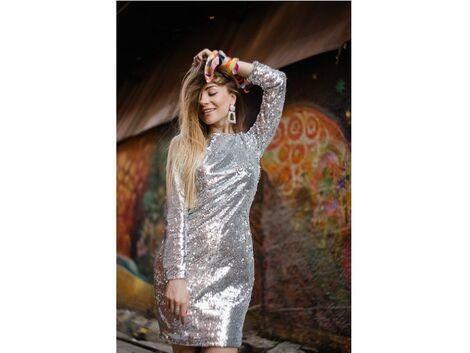 Платья Блестящее серебряное платье  напрокат | Аренда и прокат – Москва