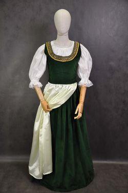 Исторические костюмы Средневековый костюм зеленый напрокат | Аренда и прокат – Москва