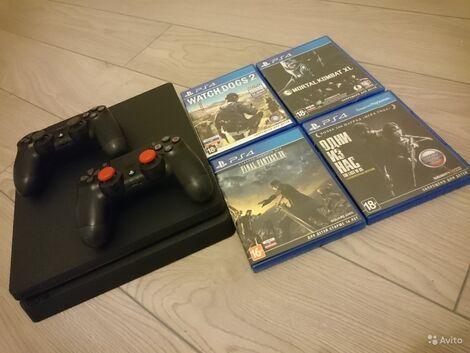 Sony  PS4 + 2 джоя + 2 игры напрокат | Аренда и прокат – Санкт-Петербург