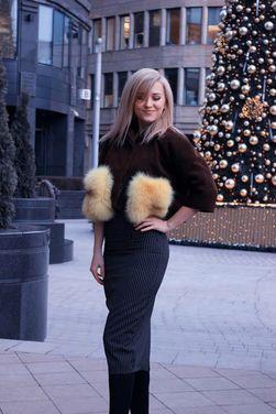 Верхняя одежда укороченное пальто с мехом напрокат | Аренда и прокат – Москва
