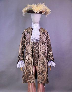 Исторические костюмы Камзол 18 века шоколадный напрокат   Аренда и прокат – Москва