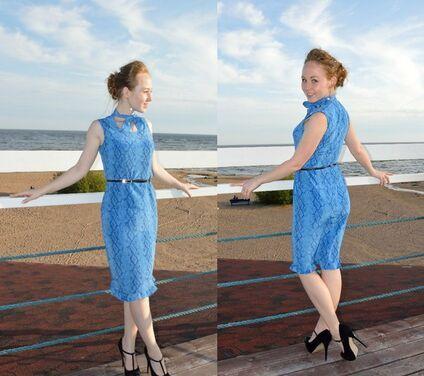 Платья Синее платье до колен напрокат | Аренда и прокат – Санкт-Петербург