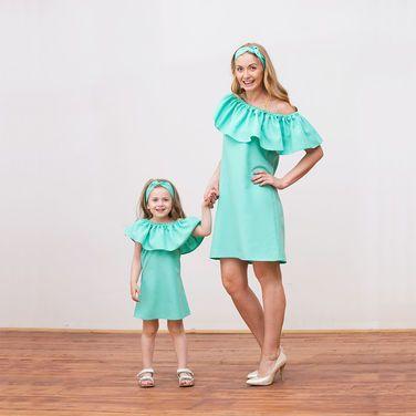 Платья зеленые платья мама дочка напрокат | Аренда и прокат – Санкт-Петербург