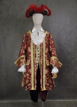 Исторические костюмы Костюм 18 века бордовый напрокат   Аренда и прокат – Москва