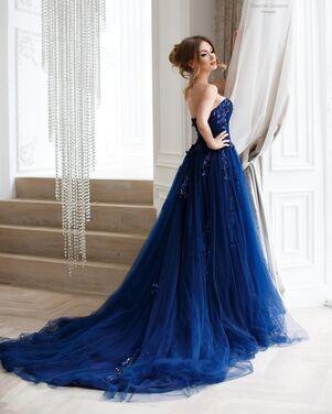 Платья Платье темно синего цвета напрокат | Аренда и прокат – Москва