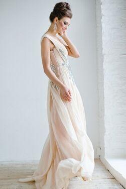 Платья Jovani New Beige Evening Dress напрокат | Аренда и прокат – Краснодар