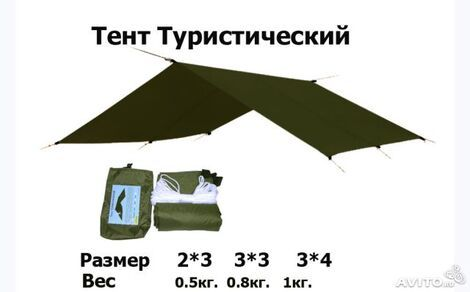 Палатки/тенты Тент туристический 3х3 напрокат | Аренда и прокат – Москва