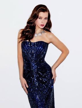 Платья Вечернее темно-синее платье Barbara напрокат | Аренда и прокат – Москва