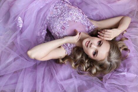 Платья Нежное лиловое платье напрокат | Аренда и прокат – Санкт-Петербург