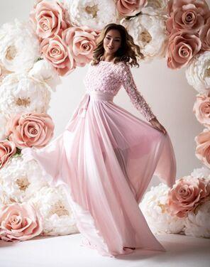 Платья Нежно-розовое платье напрокат | Аренда и прокат – Санкт-Петербург