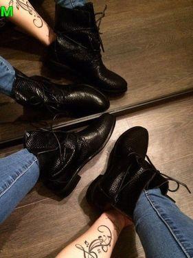 Обувь Женские ботинки на шнуровке кожаные напрокат | Аренда и прокат – Москва