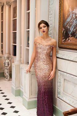 Платья Золотистое вечернее платье омбре напрокат | Аренда и прокат – Санкт-Петербург