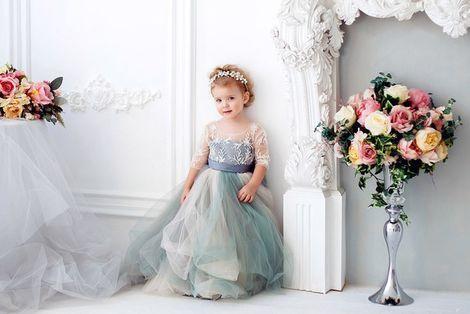 Платья и одежда для девочек Детское Платье Северное Сияние  напрокат | Аренда и прокат – Москва