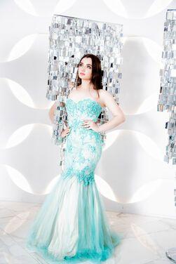 Платья Мятно-нюдовое платье напрокат | Аренда и прокат – Санкт-Петербург