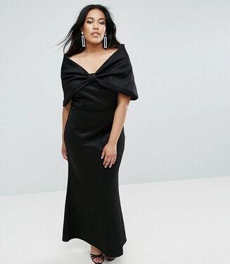 Платья Черное макси размера плюс напрокат | Аренда и прокат – Майкоп