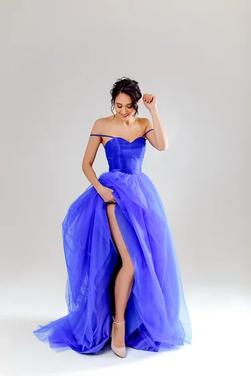 Платья Пышное синее платье  напрокат | Аренда и прокат – Санкт-Петербург