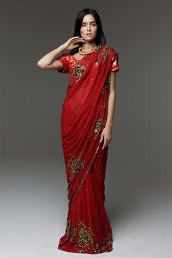 Национальные костюмы Сари Nepal Red напрокат | Аренда и прокат – Москва