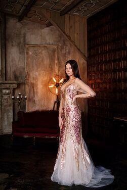Платья Платье с рисунком пайетками и фатин напрокат | Аренда и прокат – Москва