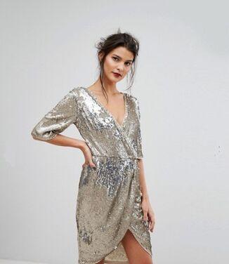 Платья Платье миди с запахом и пайетками напрокат | Аренда и прокат – Санкт-Петербург