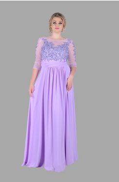 Платья Сиреневое платье больших размеров напрокат   Аренда и прокат – Москва
