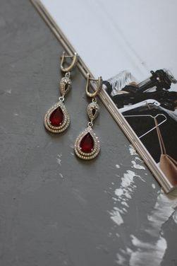 Аксессуары Серебряные серьги Royal ruby напрокат | Аренда и прокат – Нижний Новгород