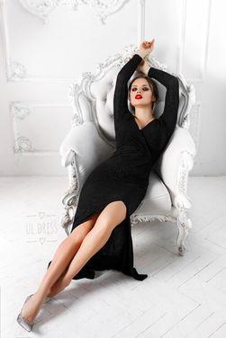Платья Черное платье с разрезом на ножке напрокат | Аренда и прокат – Санкт-Петербург