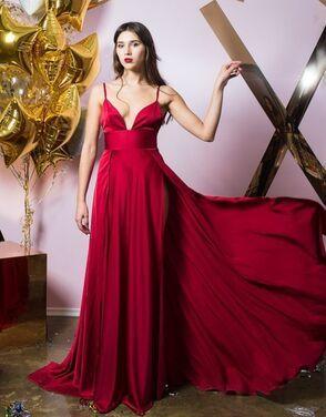 Платья Бордовое платье из шелка напрокат | Аренда и прокат – Санкт-Петербург