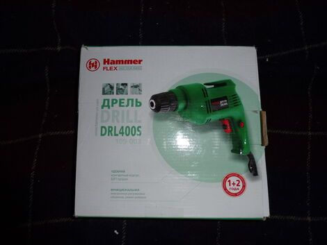 Электроинструмент Дрель HAMMER Flex DRL400S напрокат | Аренда и прокат – Москва