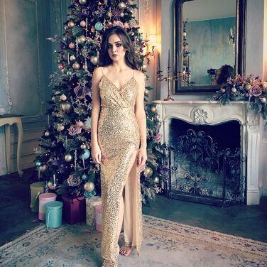 Платья Золотое платье в пайетках напрокат | Аренда и прокат – Санкт-Петербург