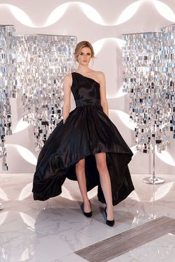 Платья Черное на одно плечо перед короче напрокат | Аренда и прокат – Санкт-Петербург