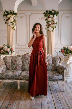 Платья Длинное платье цвета марсала напрокат | Аренда и прокат – Санкт-Петербург