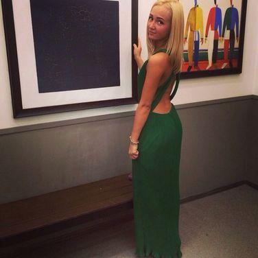 Платья Зеленое гофрированное платье напрокат | Аренда и прокат – Санкт-Петербург