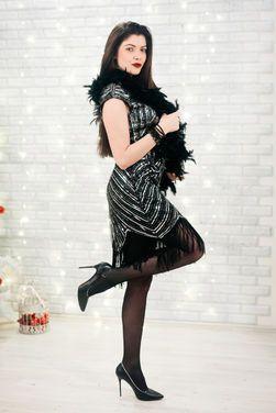 Платья Платье Гетсби черное с серебром напрокат | Аренда и прокат – Пушкино