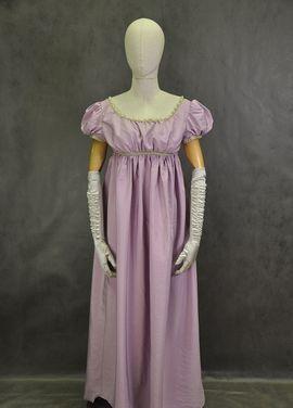 Исторические костюмы Платье начала 19 века Лиловое Ампир напрокат | Аренда и прокат – Москва