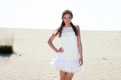 Платья Платье с перьями Young Couture напрокат | Аренда и прокат – Москва