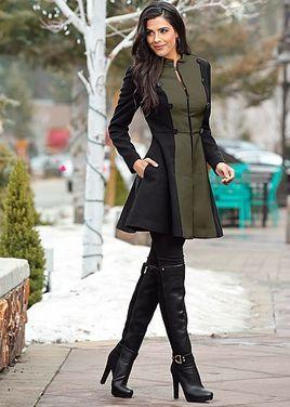 Верхняя одежда Пальто хаки черное напрокат | Аренда и прокат – Москва