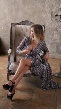 Платья Серебряное платье халат напрокат | Аренда и прокат – Москва