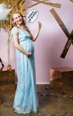 Платья Нежно-голубое платье для беременной напрокат | Аренда и прокат – Санкт-Петербург
