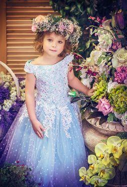 Платья и одежда для девочек Мятное детское платье напрокат | Аренда и прокат – Екатеринбург